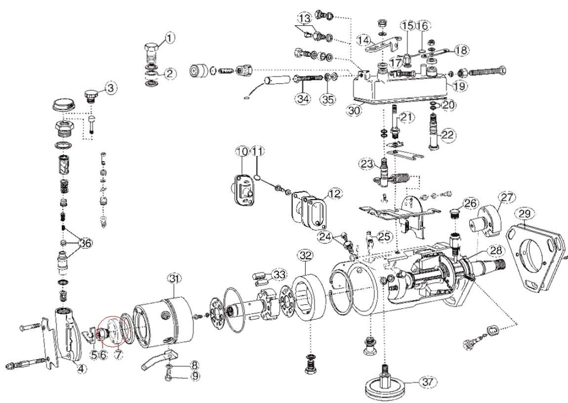 bosch injector pump parts diagram