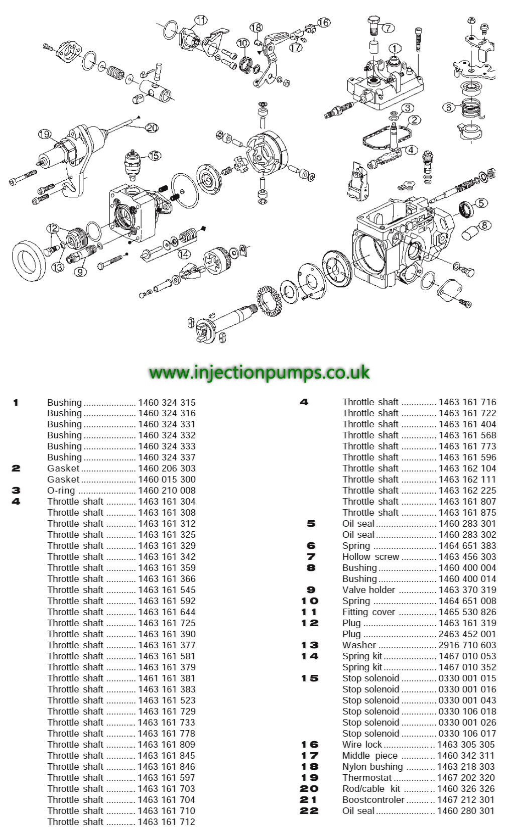Vp44 Injection Pump >> Exploded diagrams - Diesel Injection Pumps