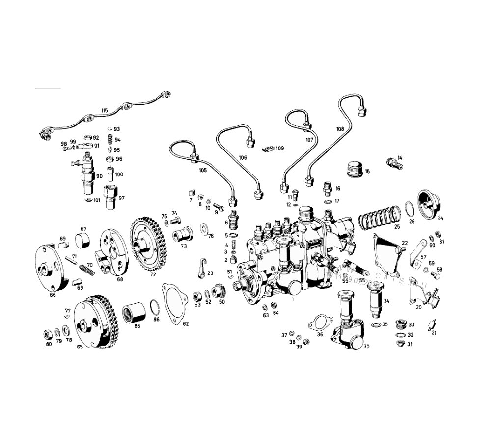 4r75w exploded diagram seal repair kit for bosch pes-4m body - diesel injection pumps