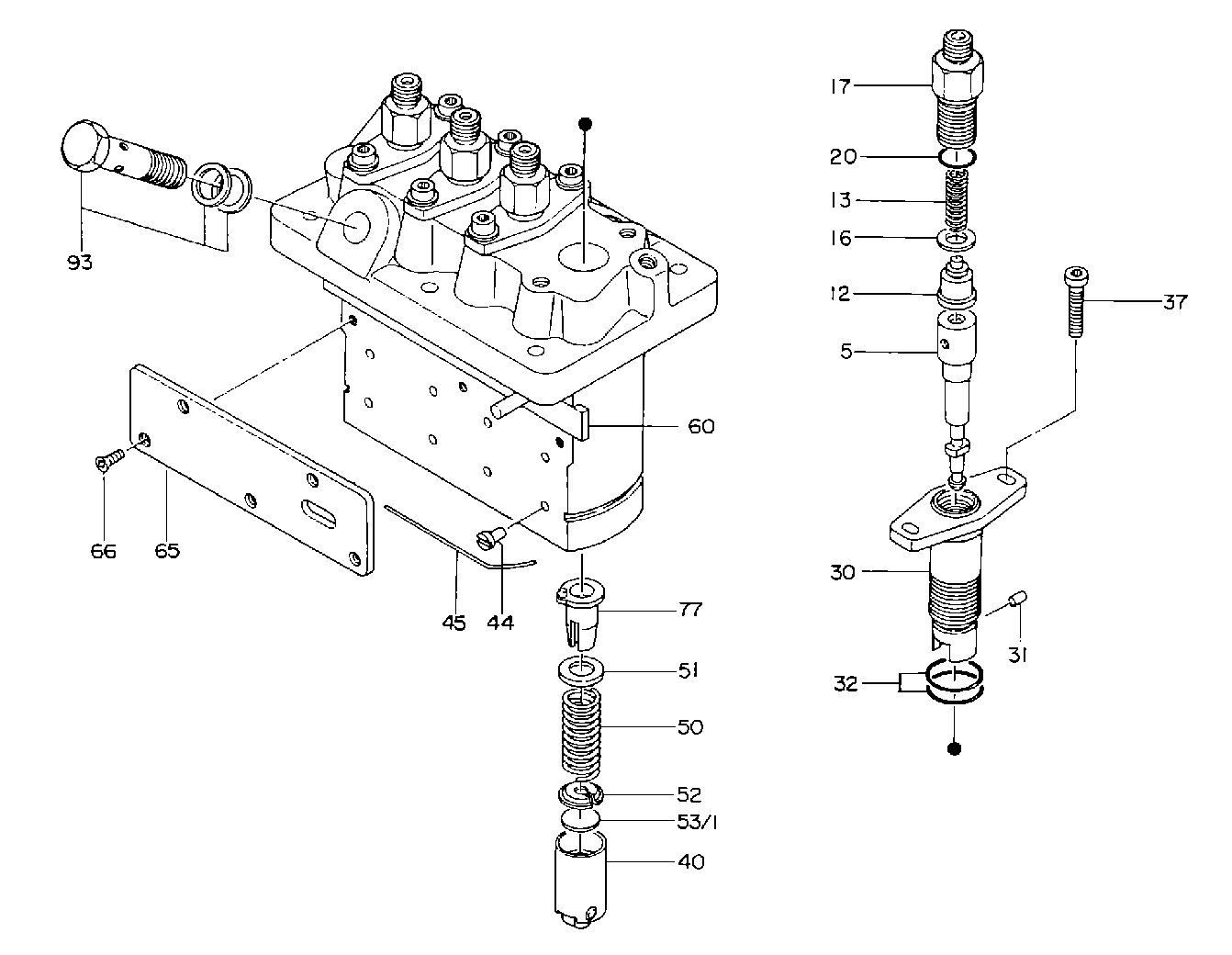 overhaul repair kit for kubota v1505 injection pump