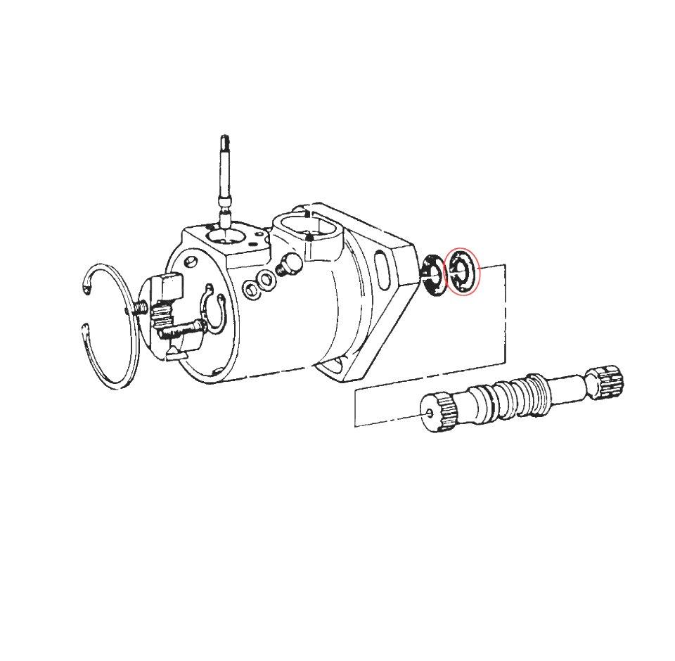 cav dpa pump driveshaft outer seals  pair