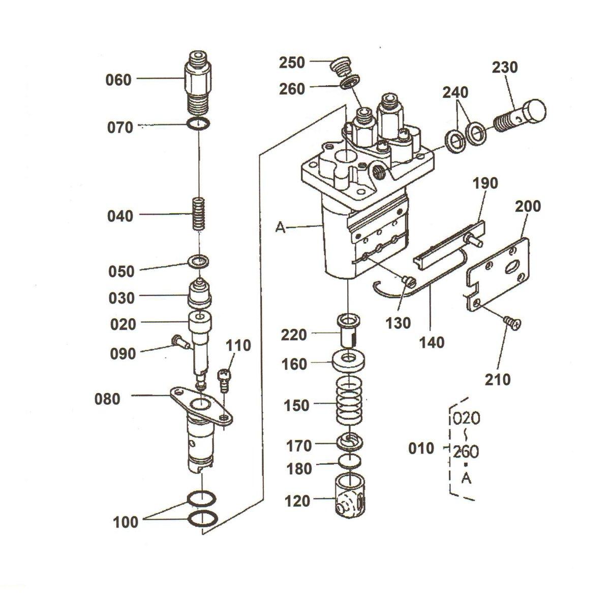 Overhaul Repair Kit For Kubota H104205317 3 Cylinder