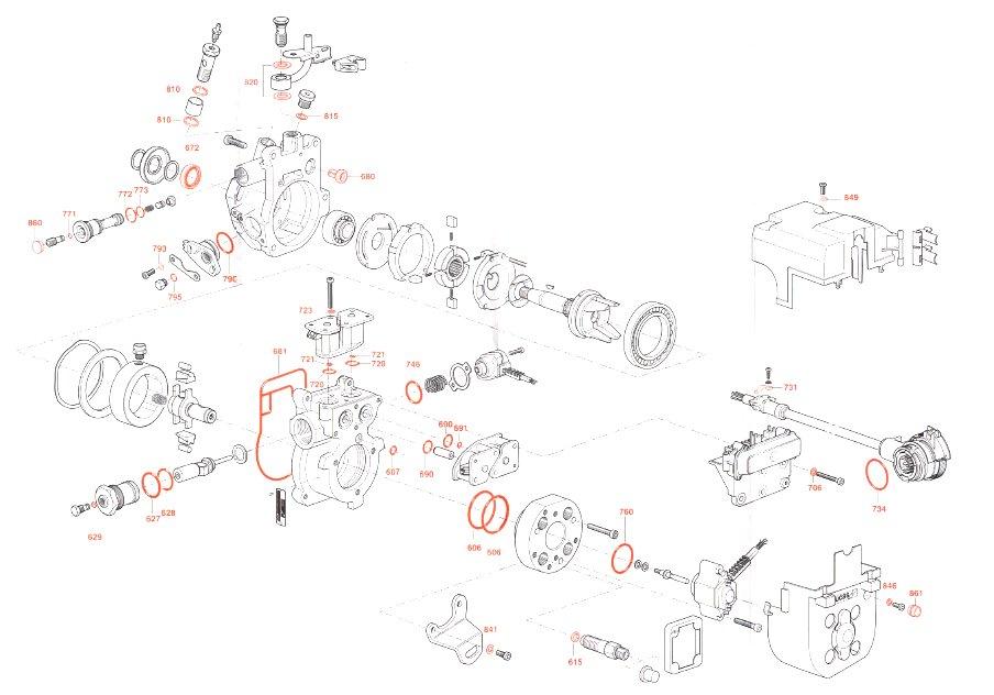 complete seal repair kit for lucas delphi epic fuel pumps