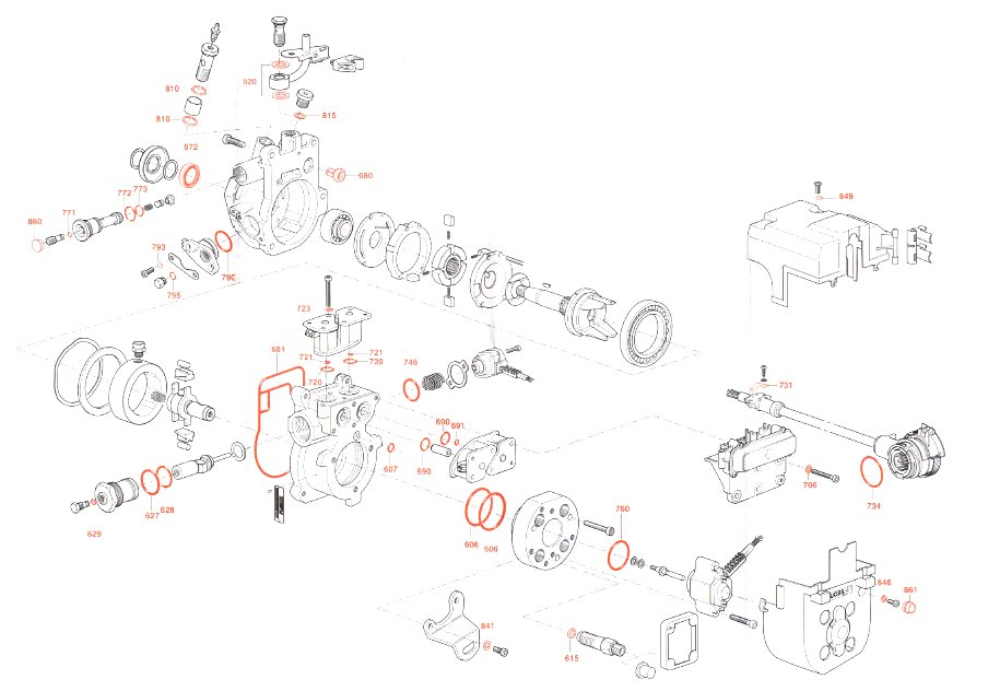 Seal Repair Kit For Lucas Delphi EPIC Ford Transit Fuel Pumps Genuine Delphi