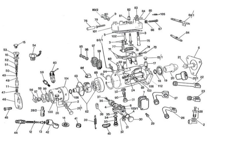 Stanadyne Fuel Injection Pump Diagram on gmc repair manuals