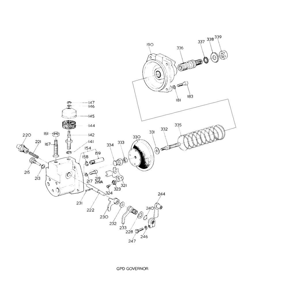cav simms minimec fuel injection pump diaphragm and piston