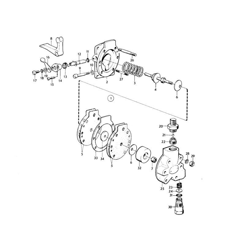 Lift pump diaphragms 7092-290B