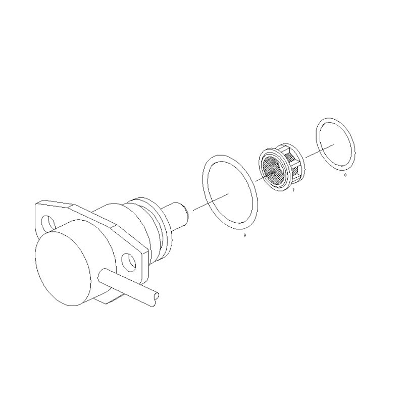 VP30 and VP44 advance solenoid O ring 1280210814 Bosch VE and VP29